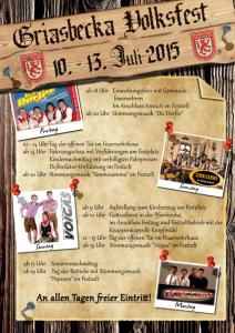 Programm Griasbecka Volksfest
