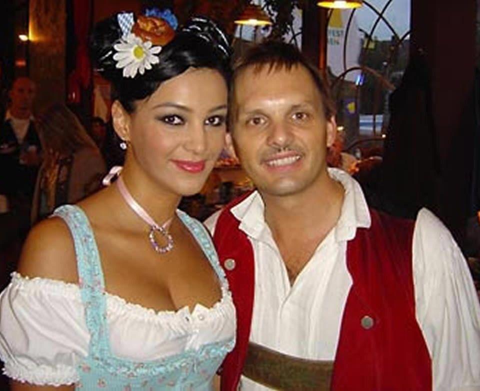 Verona Pooth und SIMMISAMMA die Oktoberfestband