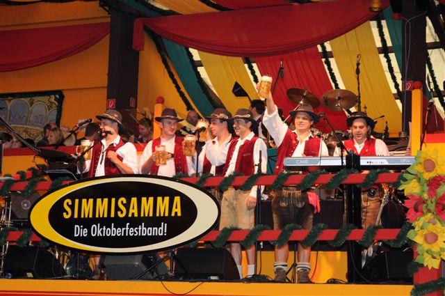 Simmisamma die Oktoberfestband – Konzert Hippodrom Oktoberfest München Deutschland 19