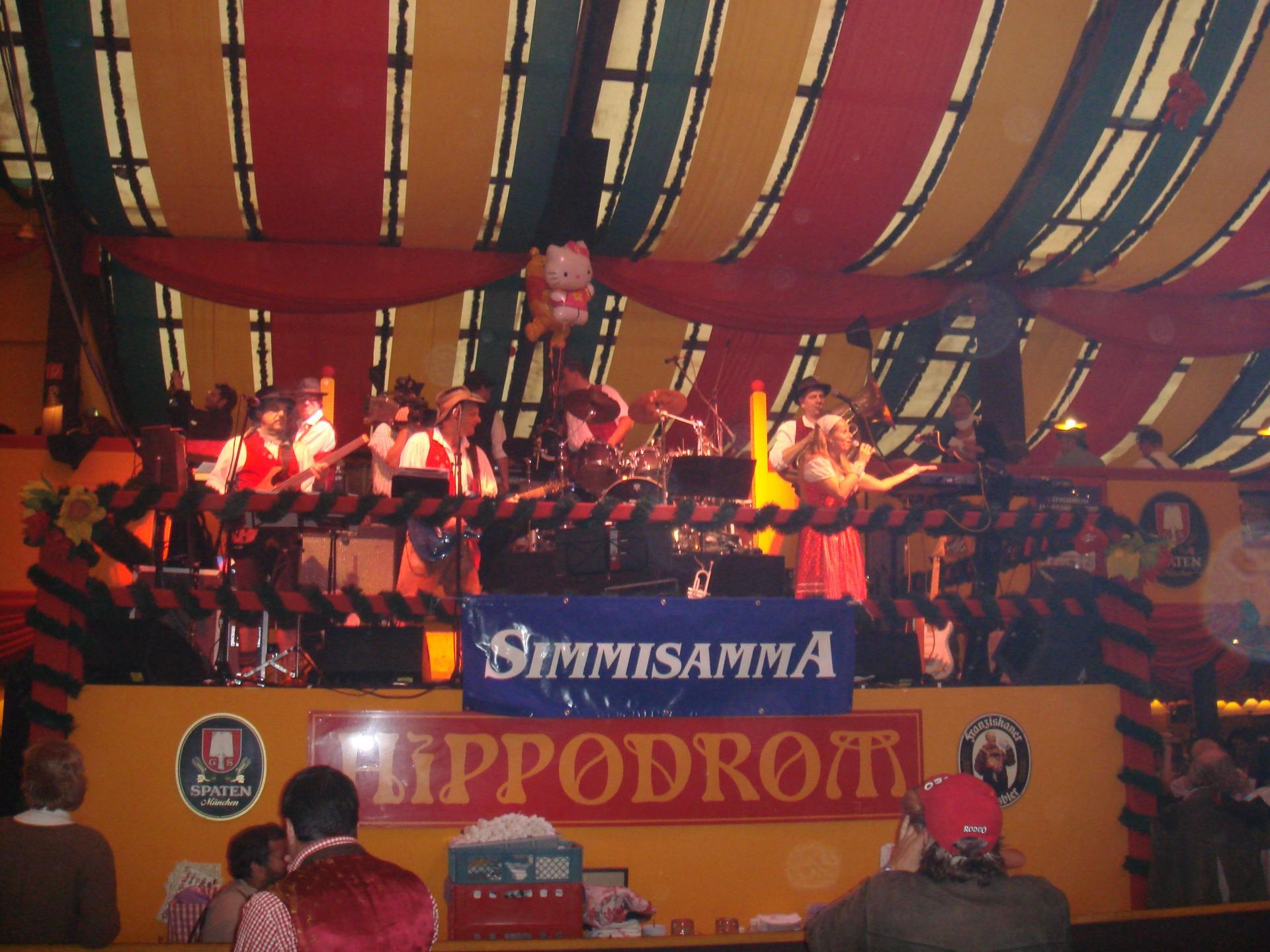 Simmisamma die Oktoberfestband – Konzert Hippodrom Oktoberfest München Deutschland 86