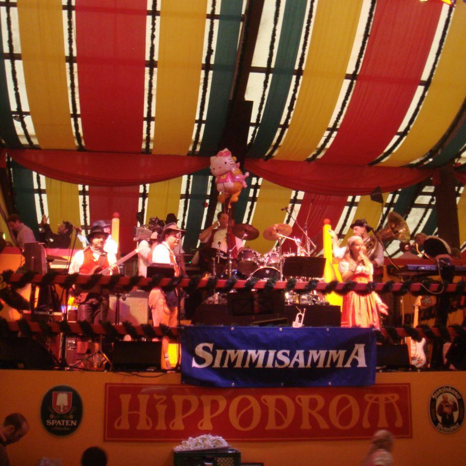 Simmisamma die Oktoberfestband – Konzert Hippodrom Oktoberfest München Deutschland 87