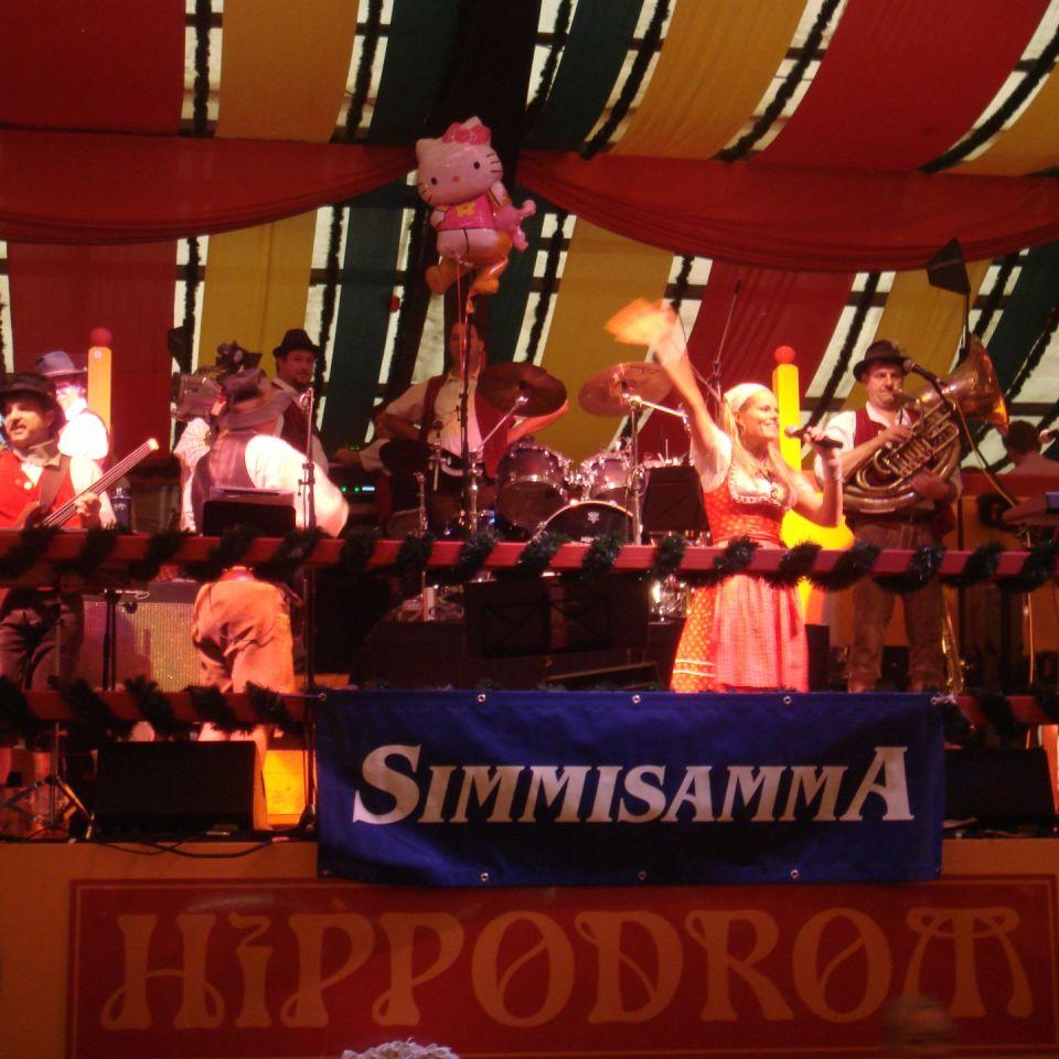 Simmisamma die Oktoberfestband – Konzert Hippodrom Oktoberfest München Deutschland 88