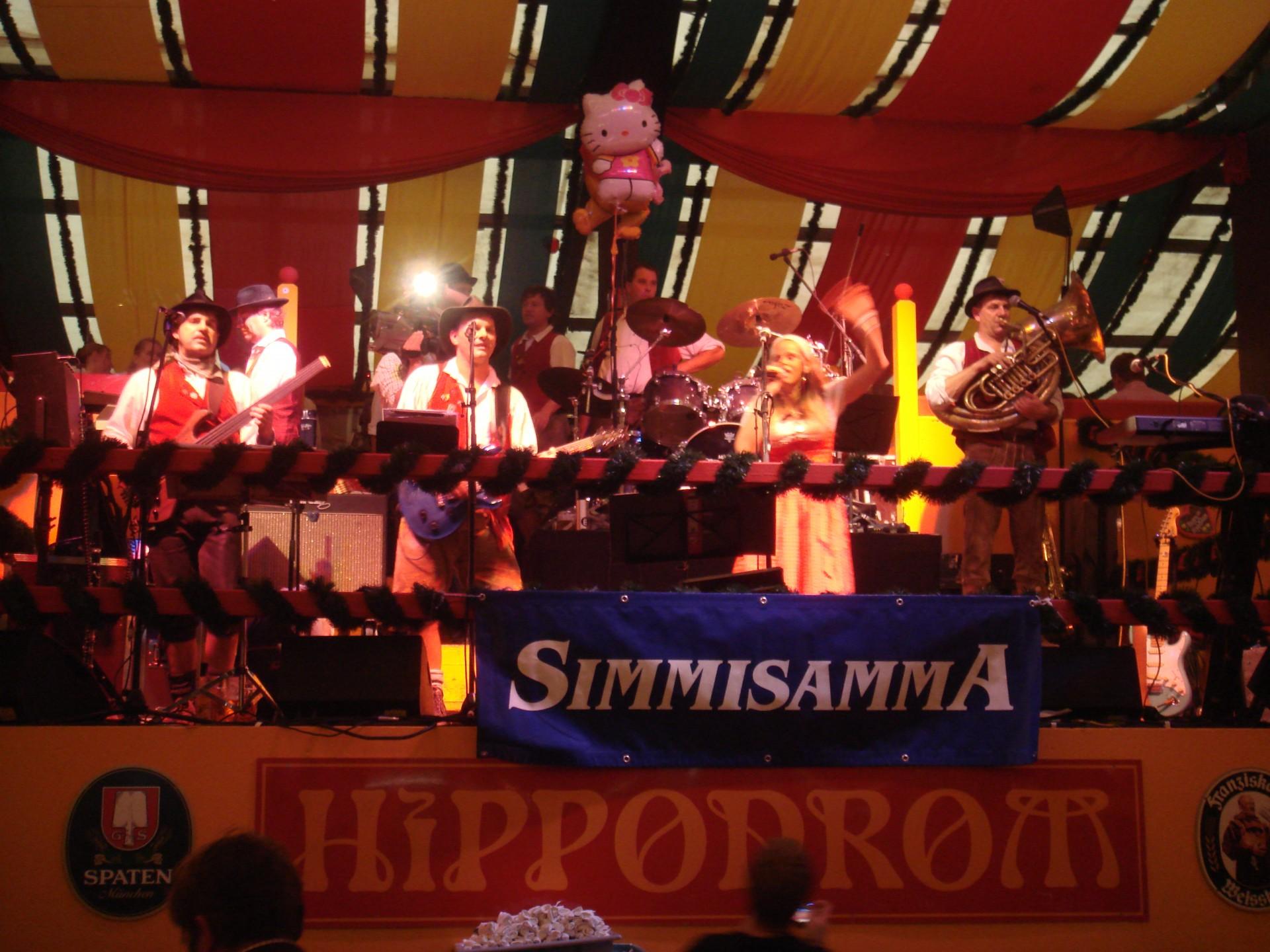 Simmisamma die Oktoberfestband – Konzert Hippodrom Oktoberfest München Deutschland 89