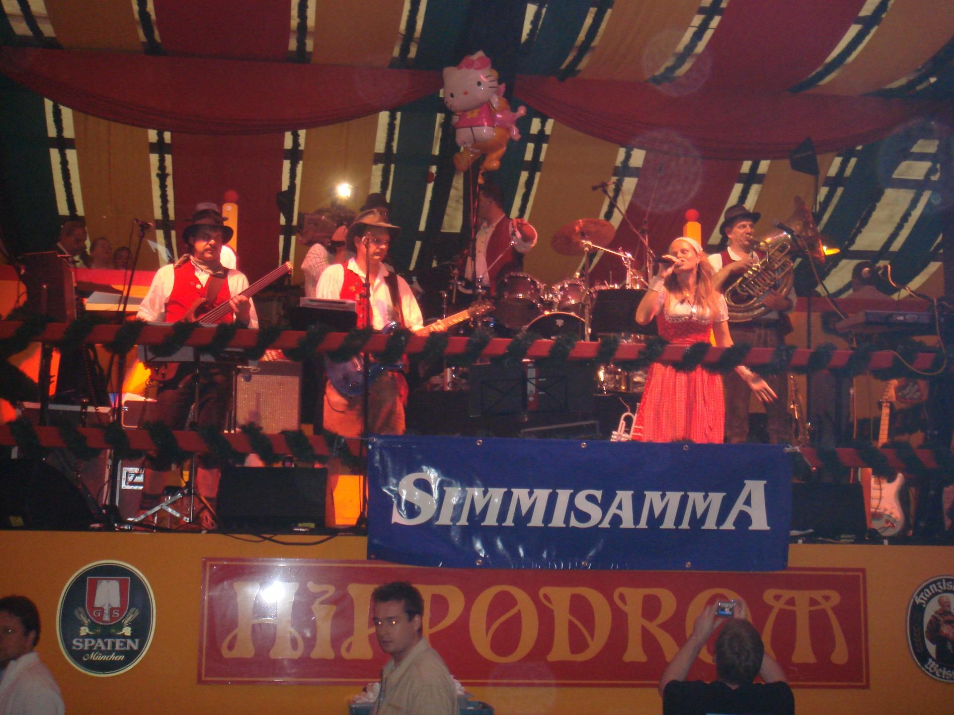 Simmisamma die Oktoberfestband – Konzert Hippodrom Oktoberfest München Deutschland 90