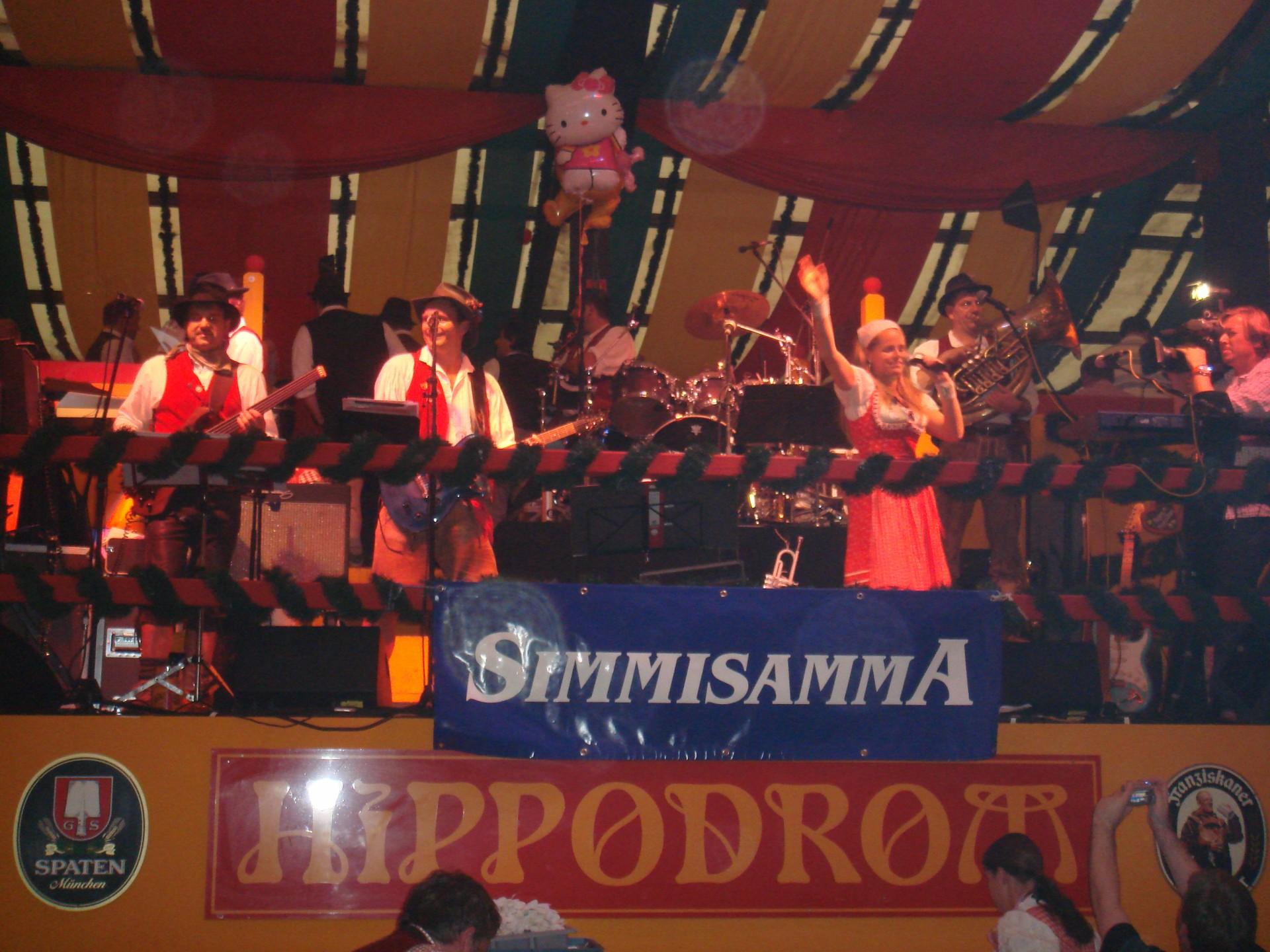 Simmisamma die Oktoberfestband – Konzert Hippodrom Oktoberfest München Deutschland 91