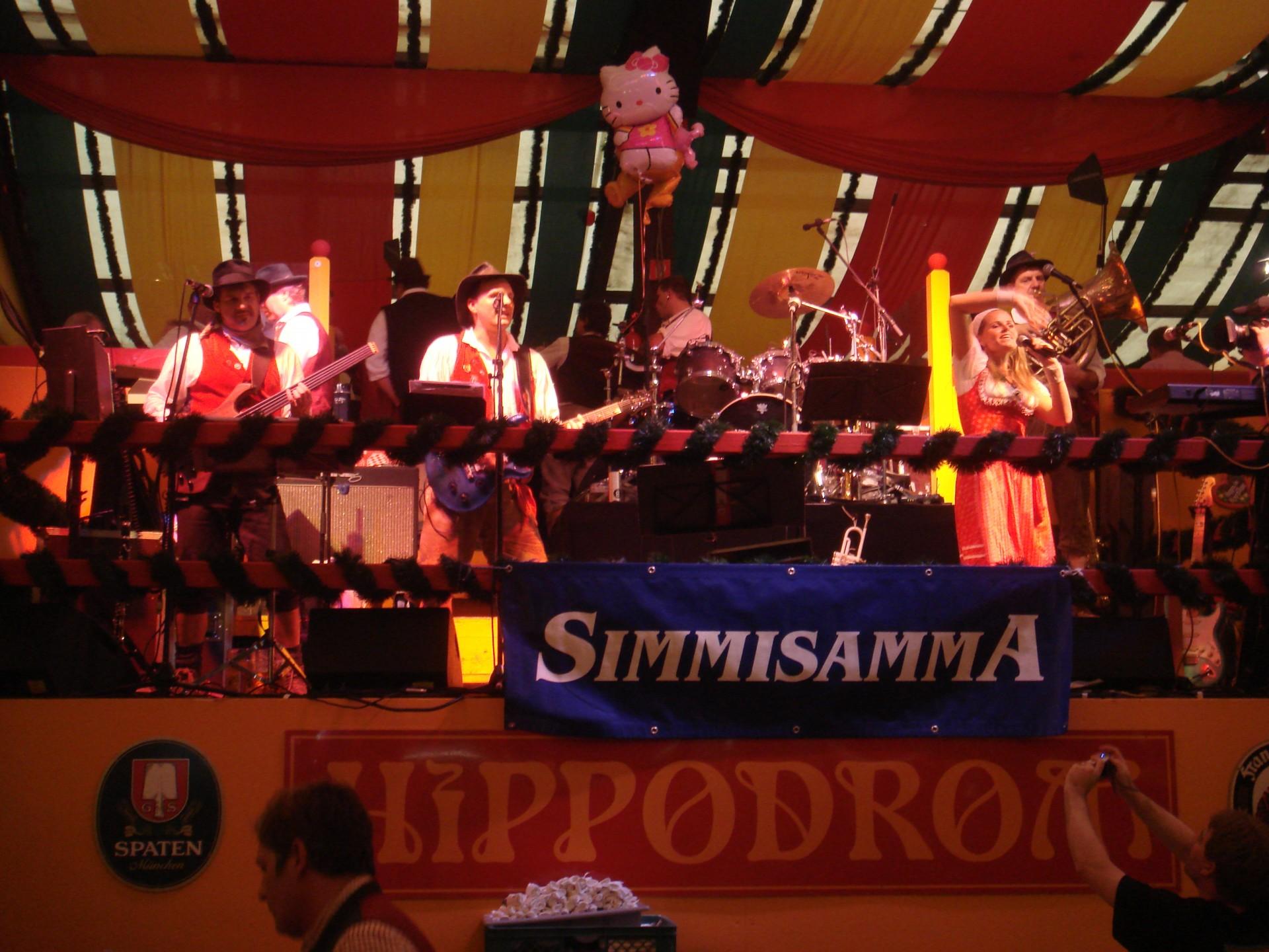 Simmisamma die Oktoberfestband – Konzert Hippodrom Oktoberfest München Deutschland 92