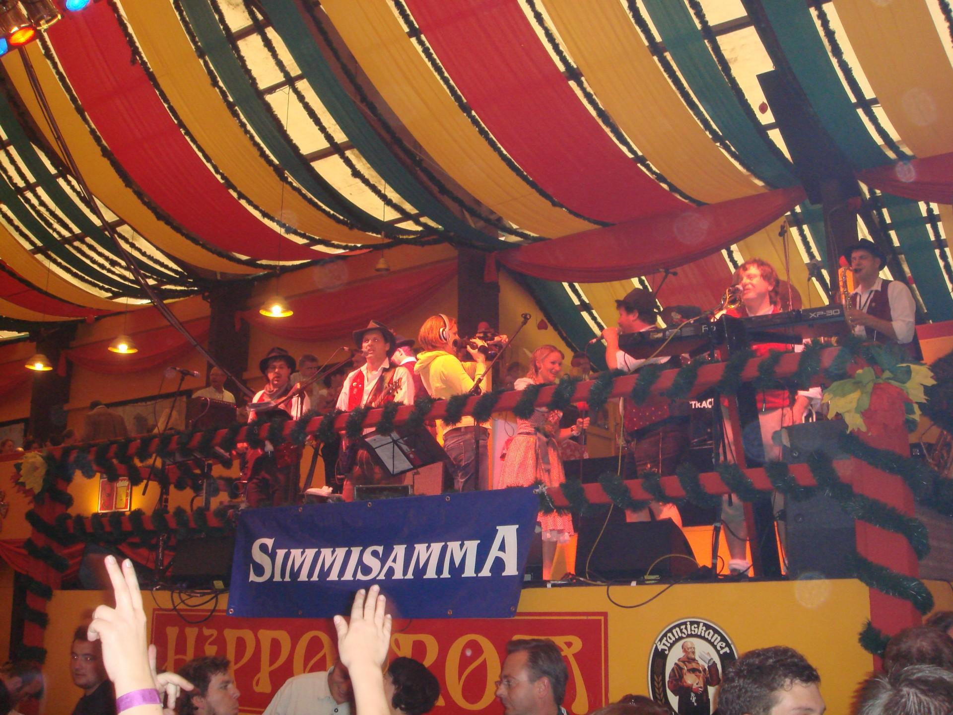 Simmisamma die Oktoberfestband – Konzert Hippodrom Oktoberfest München Deutschland 95