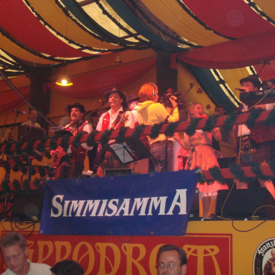 Simmisamma die Oktoberfestband – Konzert Hippodrom Oktoberfest München Deutschland 96