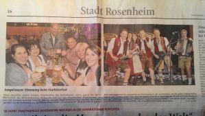 SIMMISAMMA - die Oktoberfestband im Oberbayerischen Volksblatt